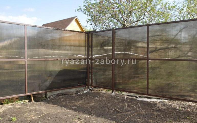 забор из поликарбоната в Рязани