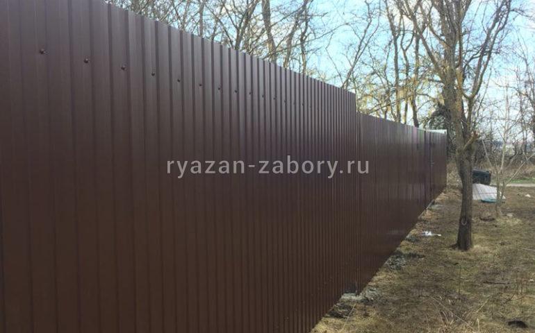забор из профлиста в Рязани